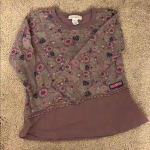 Naartjie kids purple print sweater, size 2T